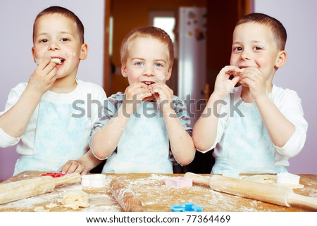 Little Bakers. - stock photo