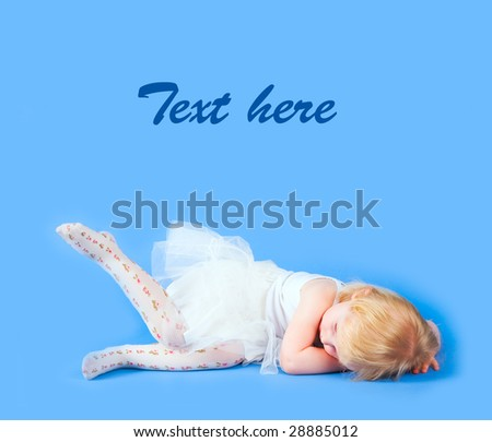 Little ballerina is dreaming - stock photo