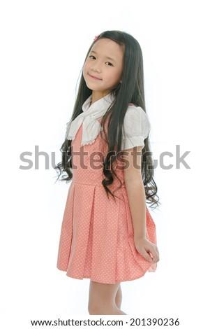 Little beautiful asian girl - stock photo