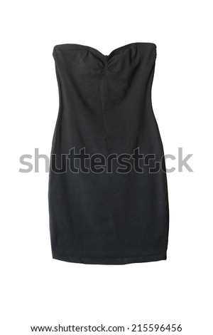 Little black cocktail dress isolated over white - stock photo