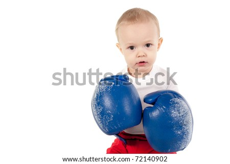little boxer isolated on white background - stock photo