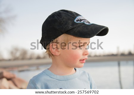 Little Boy at Play - stock photo