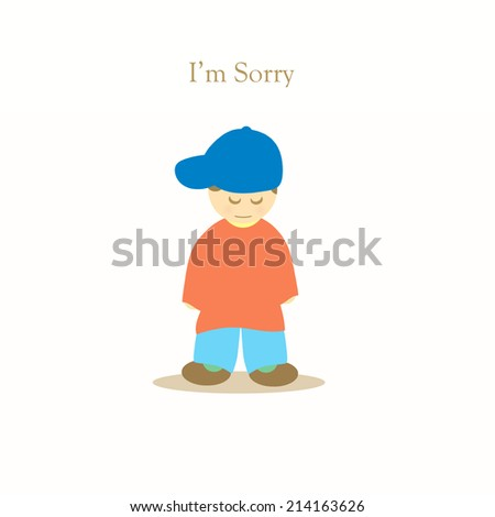 Little Boy - I'm Sorry - stock photo