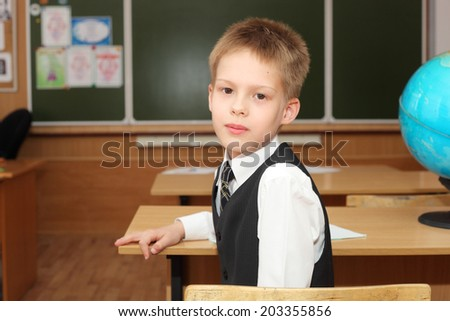 little boy in the classroom