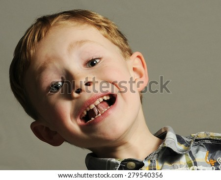 Little boy is out of control - stock photo