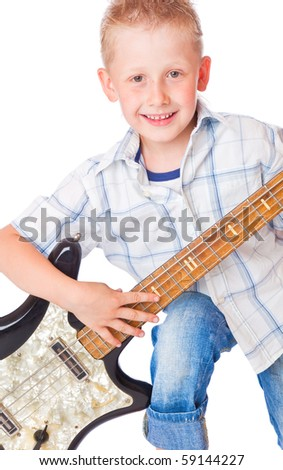 Little boy . Isolated on white background - stock photo