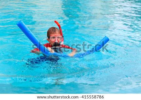 Asian Boy Tube Learning Swim Stock Photo 172646234 Shutterstock