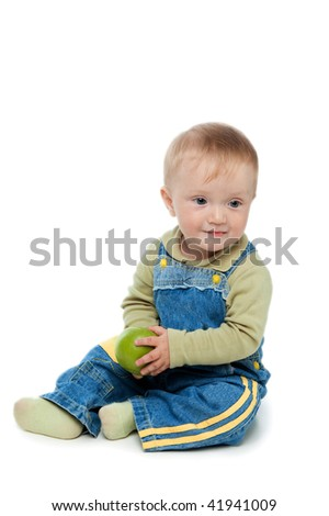little boy on white background.  isolated.