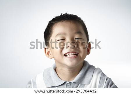 little boy smile close up - stock photo