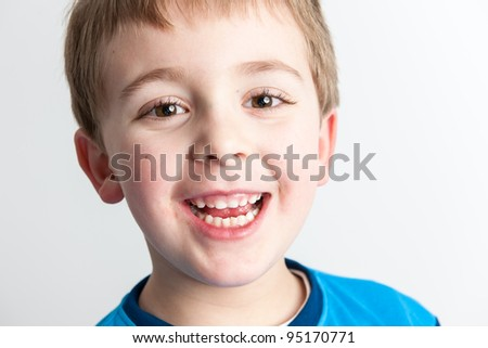 Little Boy Smiling - stock photo