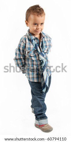 Little boy with tie - stock photo