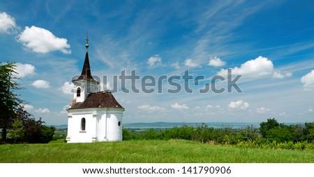 Little chapel in Balatonlelle at Lake Balaton, Hungary - stock photo