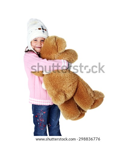 little child with a toy bear