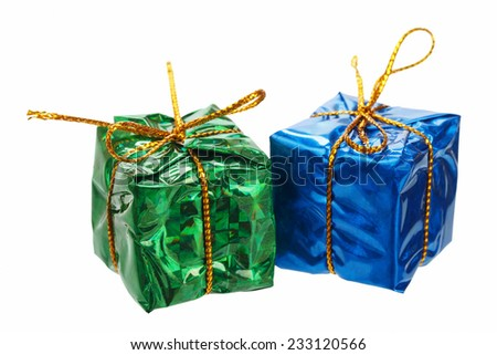 Little christmas gifts - stock photo