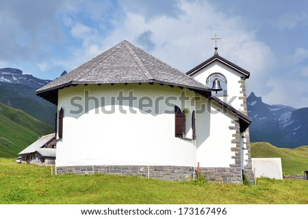 Little church in Tannalp, Switzerland