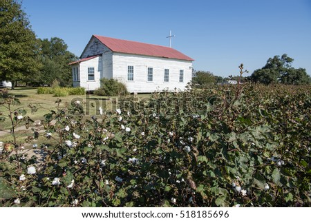 Little Church in the Cotton Field at Frogmore Plantation in Louisiana