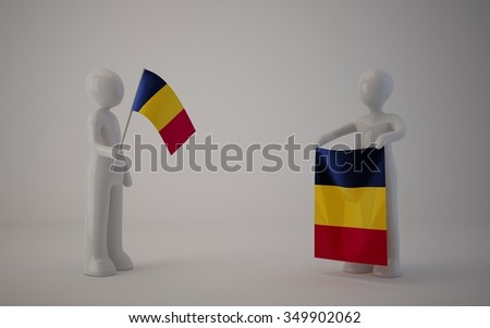 little country flag, chad