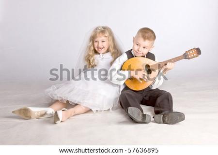 little couple - stock photo