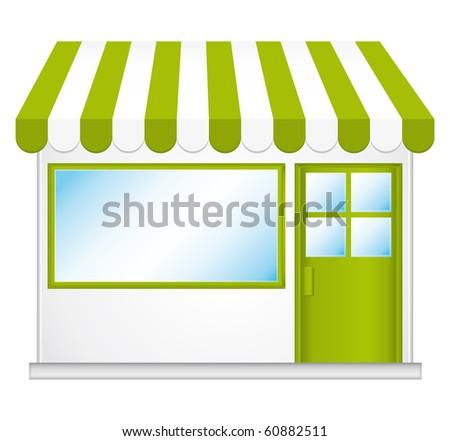 Little cute store illustration. - stock photo