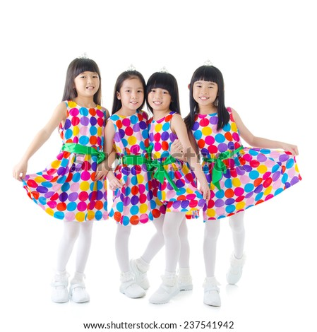 Little dancers - stock photo