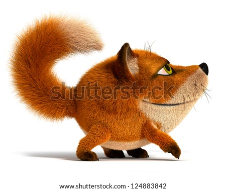 Little fox - stock photo