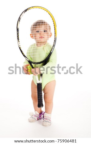 little funny tennis player