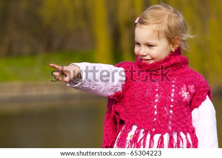 Little girl. - stock photo