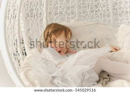 little girl and bedroom