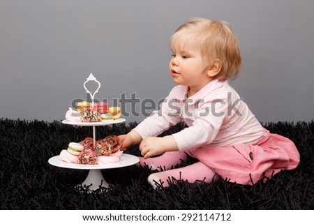 Little girl and sweets