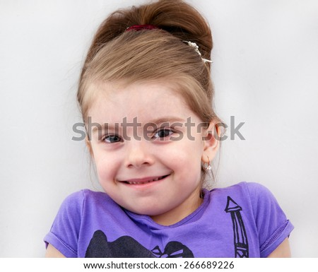 little girl close up - stock photo