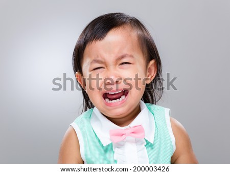 Little girl cry - stock photo