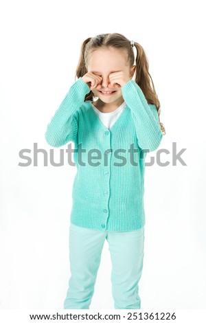 little girl crying,  - stock photo