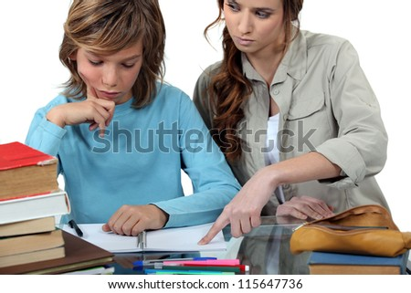 little girl having a private lesson - stock photo