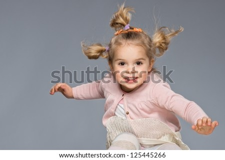 Little girl having fun