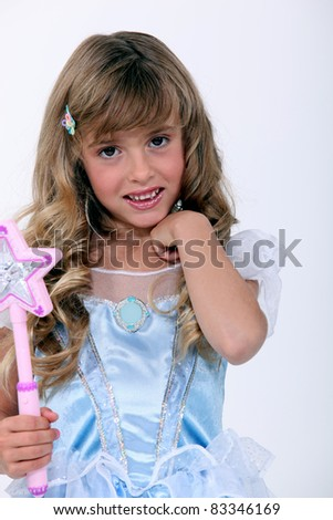 Little girl in a fairy dress - stock photo