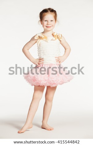 Little girl in pink - stock photo