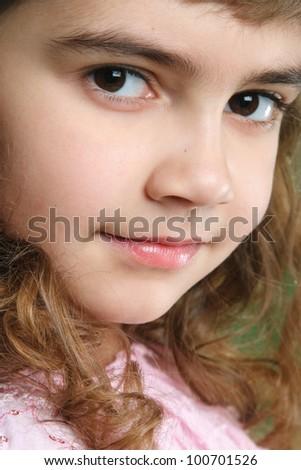 little girl in studio shooting - stock photo