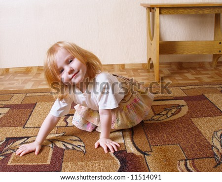 little girl indoor - stock photo