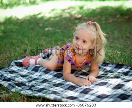 Little girl laughing - stock photo