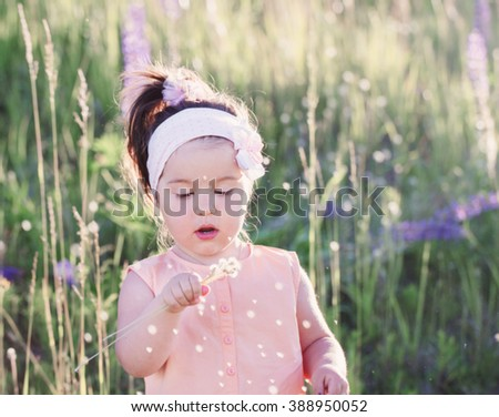 little girl  outdoor - stock photo