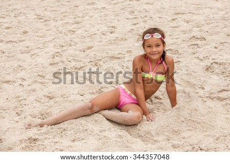 Little girls playing naked
