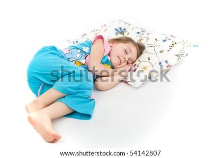 Little girl sleeping. - stock photo
