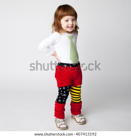 little girl smiling - stock photo