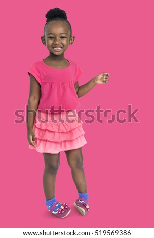 Little Girl Smiling Happiness Portrait Concept