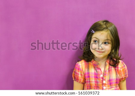Little girl thinking .  - stock photo