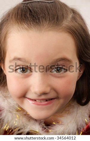 Little girl with fur collar