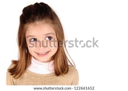 little girls posing - stock photo