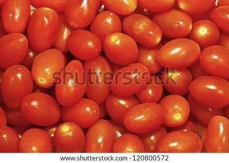 Little Grape Tomatoes - stock photo