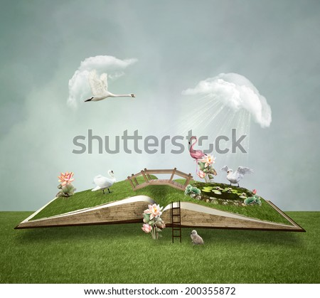 Little green world - stock photo