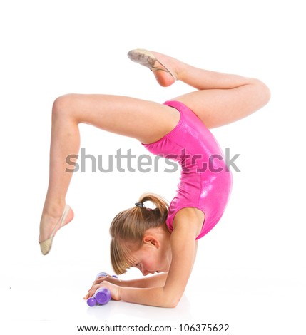 Girl Gymnastics Poses Stock Images Royalty Free Images